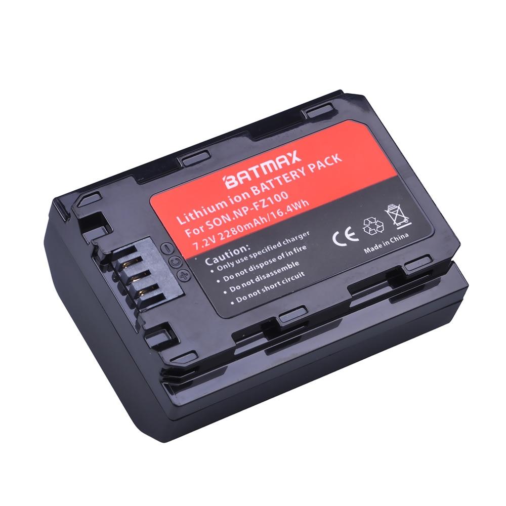 1Pc 2280mAh NP-FZ100 NP FZ100 Battery For Sony NP-FZ100, BC-QZ1 Alpha 9, A7RIII, ILCE-7RM3, A9, Sony A9R Sony Alpha 9S Camera