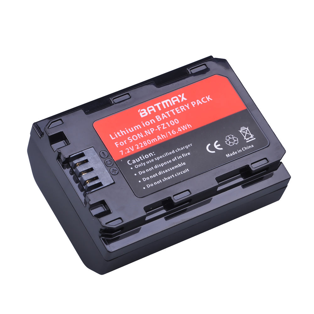 1Pc 2280mAh NP-FZ100 NP FZ100 Battery For Sony NP-FZ100, BC-QZ1 Alpha 9, A7RIII, ILCE-7RM3, A9, Sony A9R Sony Alpha 9S Camera sony alpha a5000lp