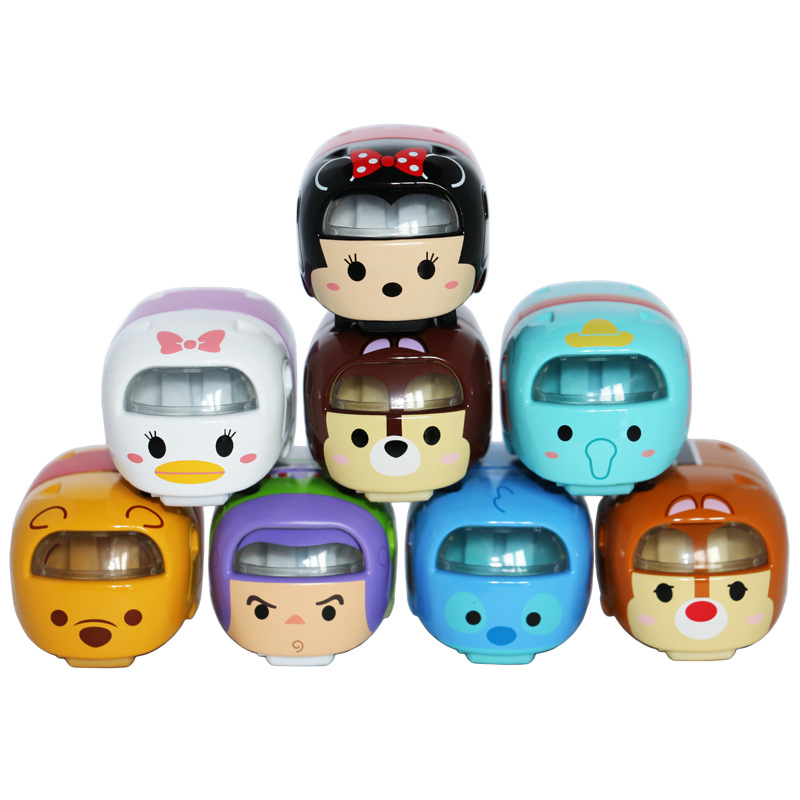 Disney Toys Cute Mini Tomica Tomy Tsum Kawaii Winnie Frozen  Elsa Anan Minnie 1:64 Diecast Metal Cars Toy Model Juguetes Gifts dial vision adjustable lens eyeglasses