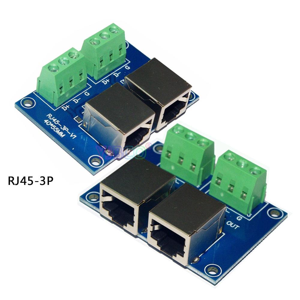 Großhandel Terminal Adapter 5 Core Xlr Auf 3 Core Xlr Addr2 Rj45-3p Xlr5-3p Verwenden Für Ch Led Dmx512 Dimmer Led-decoder Elegant Und Anmutig