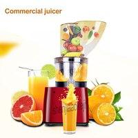 250 w TK-500 Comercial máquina de suco Automática 123 MILÍMETROS de grande calibre espremedor de sumos de Fruta Sem escória suco Contínua 220 v 1 pc