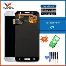 100% Testowane Oryginalne Super AMOLED Ekran LCD Do Samsung Galaxy S7 G930 G930F Wyświetlacz Digitizer Zgromadzenia Darmowa Wysyłka