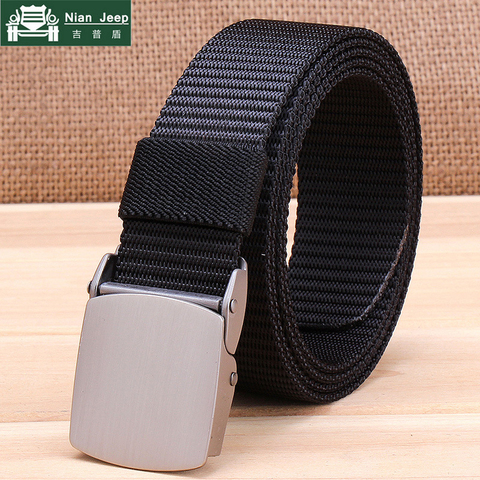 Military Tactical Nylon Belts Men Army Combat Heavy Duty Adjustable Belt Male Quick Dry Breathable Automatic Plastic Buckle Belt Pakistan