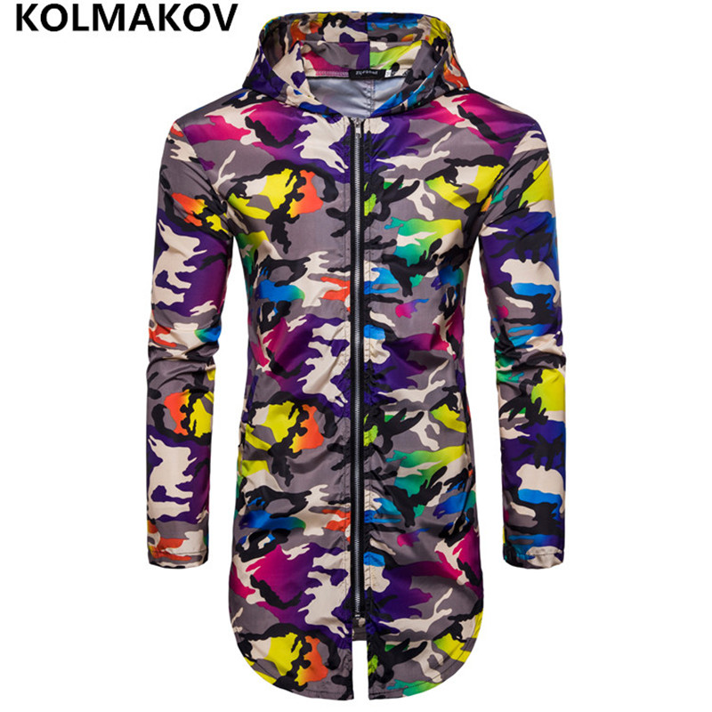 2018 Fashion Sun UV Protection Men Hooded Jacket Thin Breathable Beach Coat Sun Protective Coat Windbreaker Camouflage Men