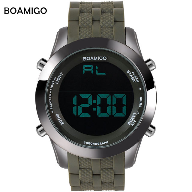 men sports watches military digital watches LED display rubber army green clock 30M waterproof wristwatches relogio masculino