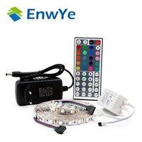 EnwYe 5050 RGB set LED Strip Waterproof 5M 300LED DC 12V RGB LED Light Strips Flexible Neon Tape Add Remote and 3A LED Power