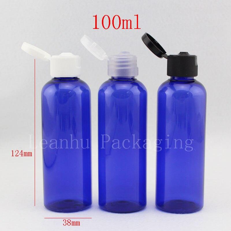 100ml empty blue shampoo plastic travel bottles with flip. Black Bedroom Furniture Sets. Home Design Ideas