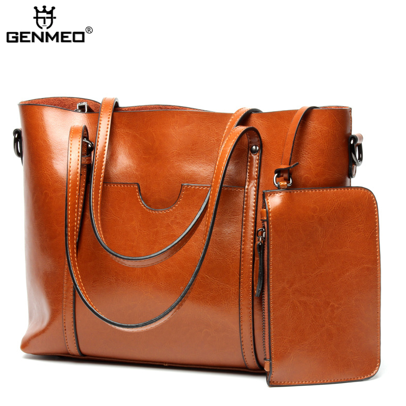 New Arrival Genuine Leather Women's Handbag Women Cow Leather Shoulder Bags Ladies Shoulder Bag Female Messenger Bag Bolsa цена и фото