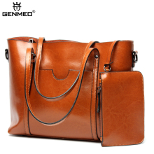New Arrival Genuine Leather Women's Handbag Women Cow Leather Shoulder Bags Ladies Shoulder Bag Female Messenger Bag Bolsa