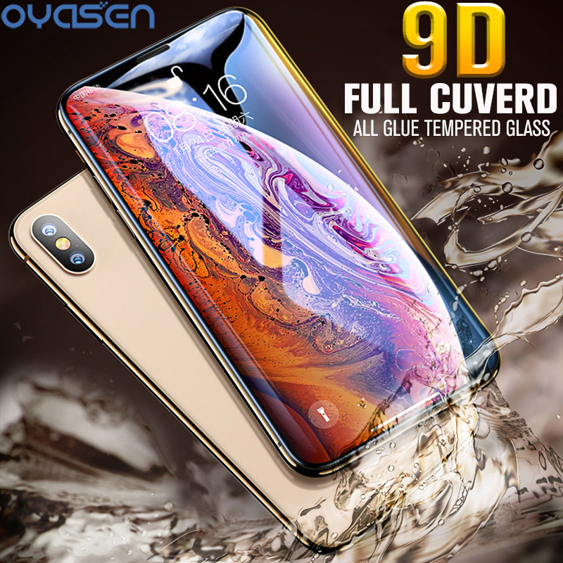 9D Tempered Glass For iPhone X XS Max XR Explosion proof Full Cuverd All Glue Screen Protector For iPhone XS Max 5 8 6 1 6 5 39 39 in Phone Screen Protectors from Cellphones amp Telecommunications