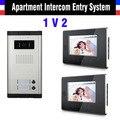 2 Units Doorbell 7 Inch Monitor Video Intercom Doorbell Door Phone Selection 2,4,6,8,10,12 Apartment Video Door Phone System