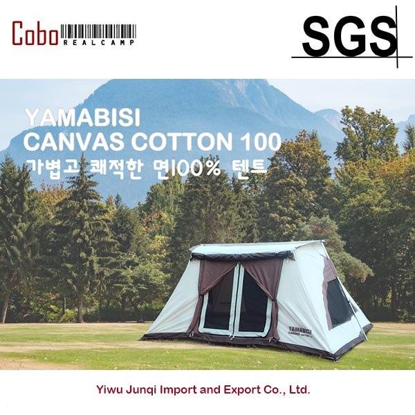 Cotton Canvas Waterproof Camping Hiking Tent Four -Season 4 Person Tent four season hair 4 x 4 20150308