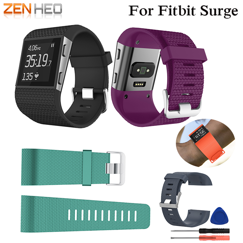Silicone Replacement Watch Wrist Strap Band For Fitbit Surge Watch Band Bracelet Smart Wrist Bands With Screwdriver Accessory цена