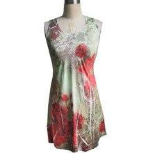 lace Vest dressTank dress Sleeveless Backless Dress Ladies 3d printing Maxi dress summer Lace