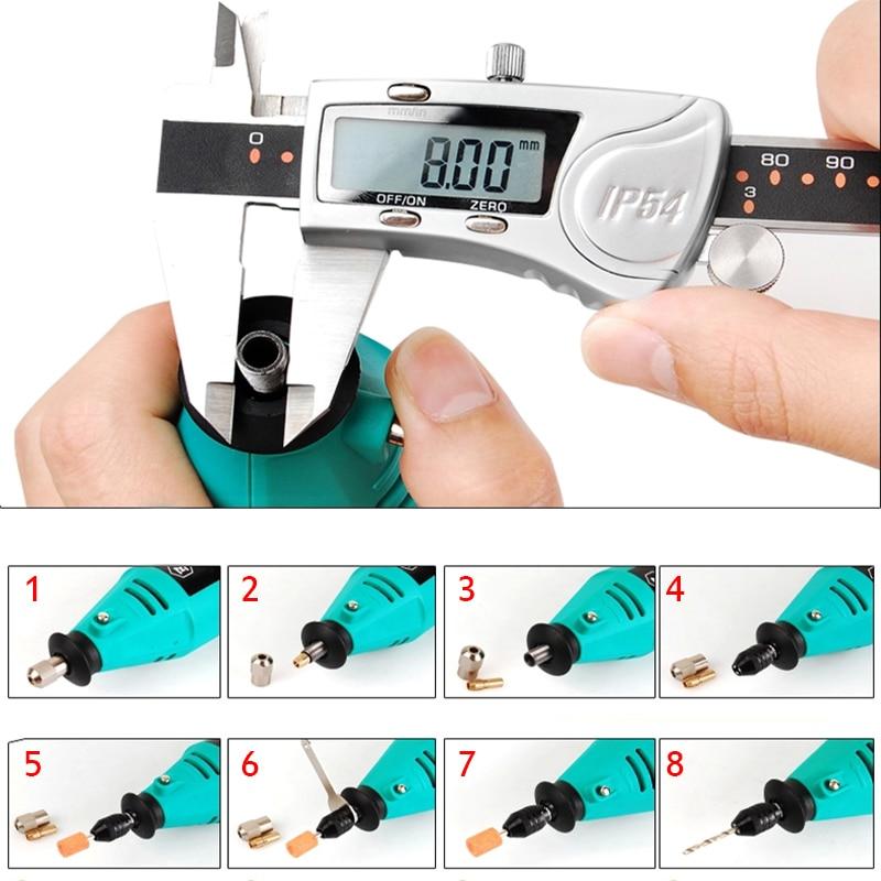 minipuurpadrunid võtmeta puurimispadrun dremeli jaoks Rotary Tools - Puur - Foto 6