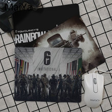 Maiya Tom Clancy Rainbow Six Siege Keyboard Gaming Mousepads Karet PC Komputer Gaming Mouse Pad(China)