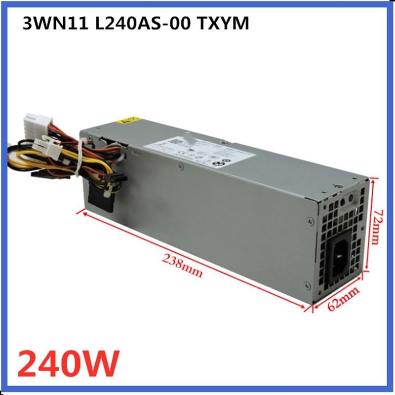 RV1C4 3WN11 CV7D3 Dell 709MT OptiPlex 3010 7010 390 790 990 240W Power Supply
