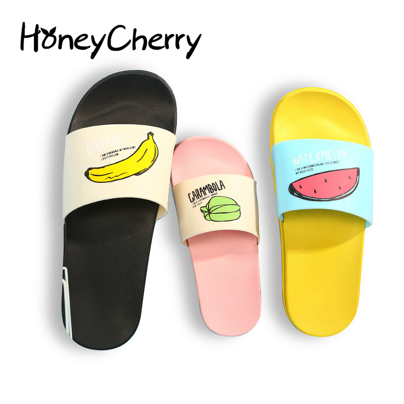 2018 New Women Slippers Fashion Summer lovely Ladies Casual Slip On Fruit jelly Beach Flip Flops Slides Woman Shoes