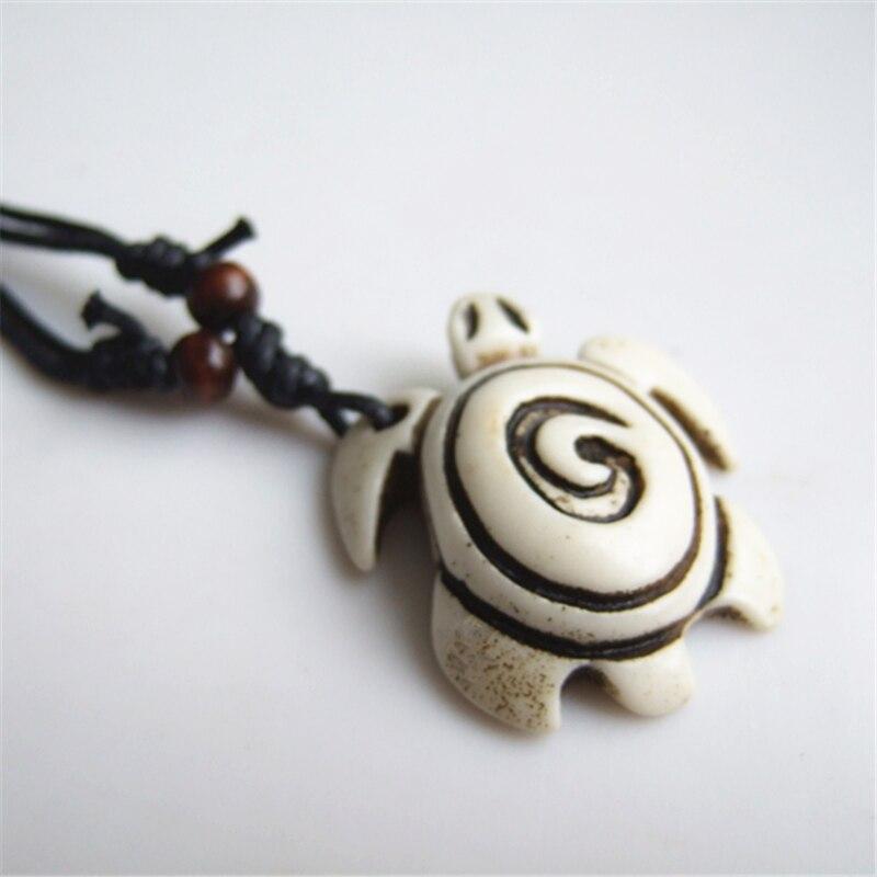 Новый 12 шт. смолы Yake Bone бежевый/коричневый уже черепаха кулон Талисманы Цепочки и ожерелья