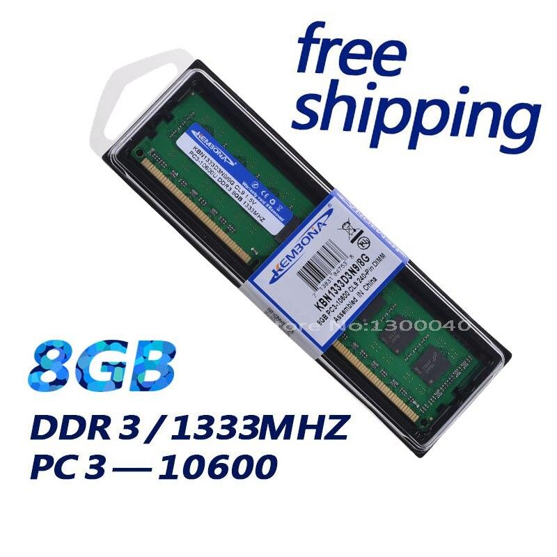 KEMBONA New Sealed DDR3 1333 MHZ PC3 10600 8 GB pour AMD De Bureau Mémoire RAM DDR3 garantie À Vie!