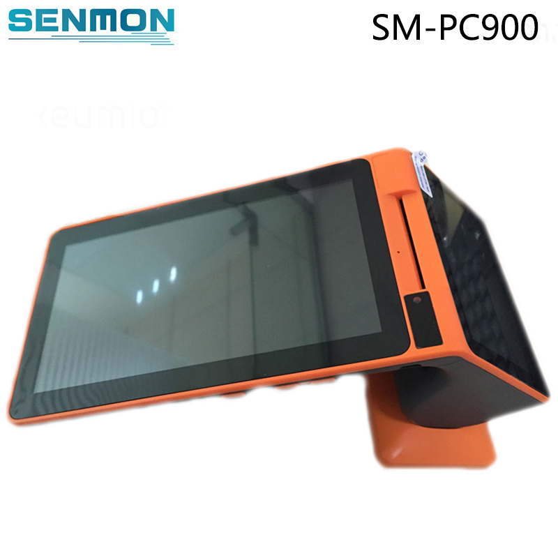 Android Handheld Mobile POS Machine Dual Screen POS System All In One Tablet POS Terminal With Thermal Printer