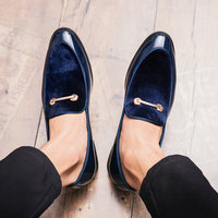 Fashion Pointed Toe Dress Shoes Men Loafers Patent Leather Oxford Shoes for Men Formal Mariage Wedding Shoes big size 38 48 B220