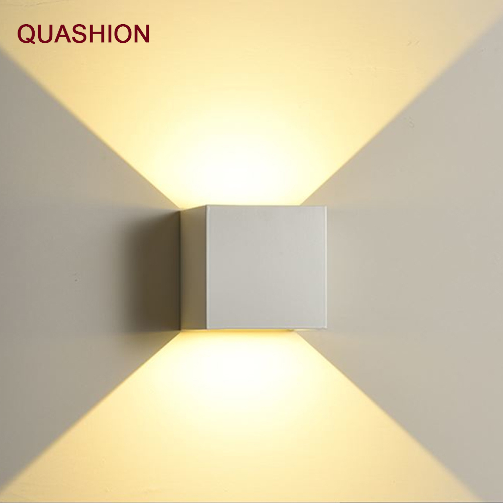 Modern 12W COB LED Wall Lamp Waterproof Indoor Outdoor Simple Style Aluminum Wall Lights For Bedroom Hallway Porch Balcony