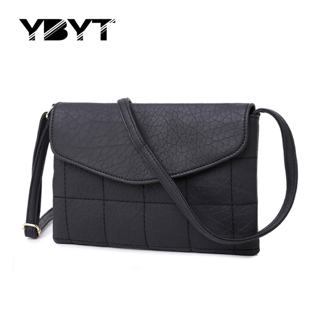 YBYT brand 2017 new casual envelope diamond lattice handbags hotsale women purse ladies clutch shoulder messenger crossbody bags
