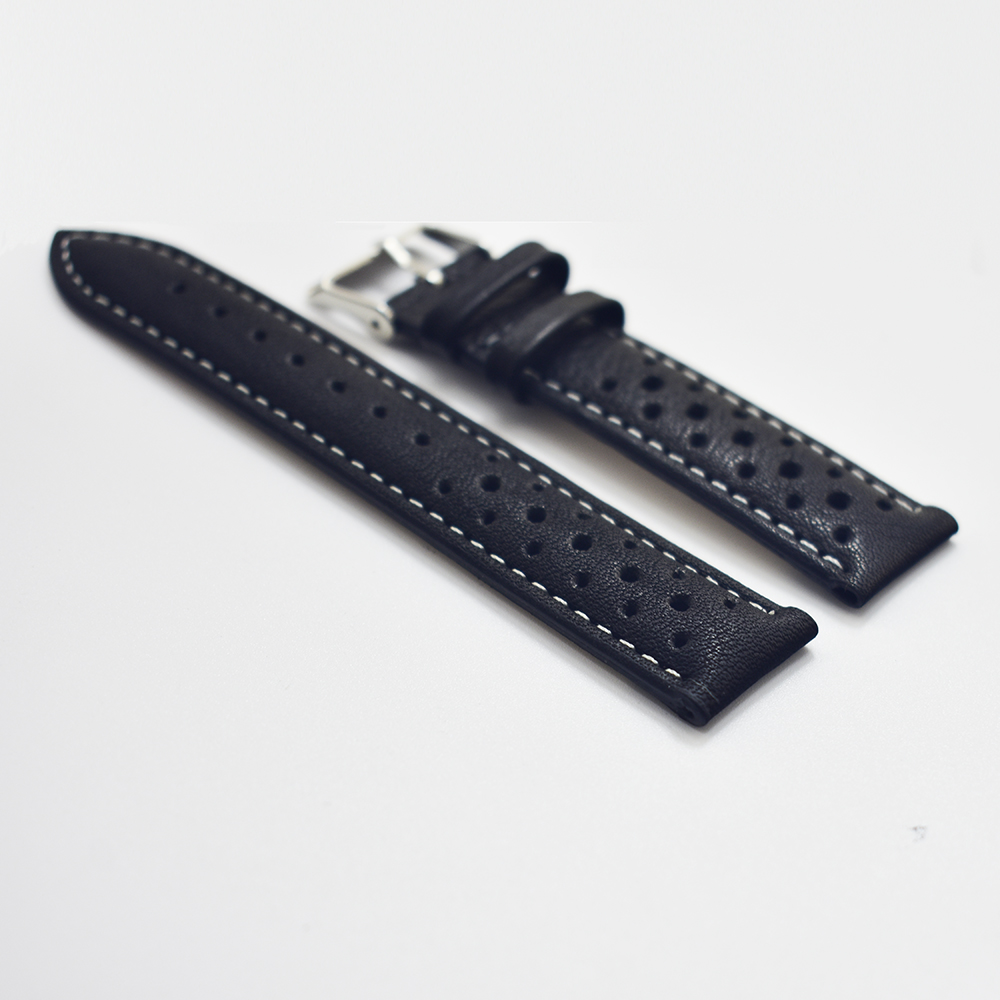 Watch Band Genuine Leather straps 18mm 20mm 22mm 24mm watch accessories klittenband men High Quality Watchbands folding buckle watchbands men shigh quality design straps 24mm leather smooth watch band with silver deployment clasp promotion