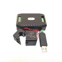 Однофазное реле ватт энергии метр с Разделение CT & USB RS485 Modbus 220 V 100A напряжение, Частота тока Мощность фактор измеритель kwh