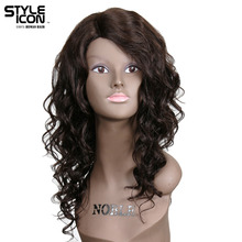 Styleicon Brazilian Virgin Hair Wigs Lace Hairline Human Hair Wigs For Women 20 Inch Long Wavy Wig Color 2 Free Shipping