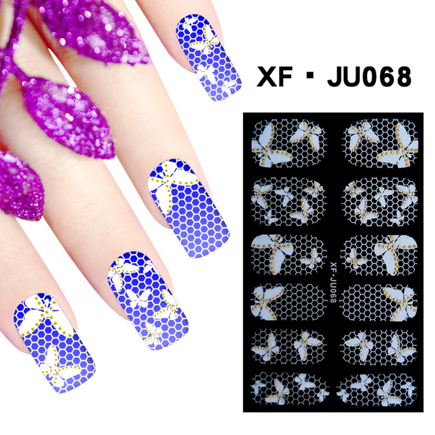 1 Sheet New Top Quality 3d Tip Nail Art Stickers Decorations Decals Carving Film