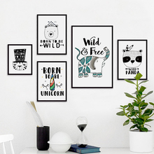 Bianche Wall Nordic Simple Circus Animals Canvas Painting Art Print Poster Picture Paintings Decor, Home Decoration