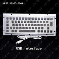 Metal Keyboard Ylgf Usb Interface Embedded Keyboard Waterproof Ip65 Dust Anti Violence Stainless Steel Ring Stainless Steel