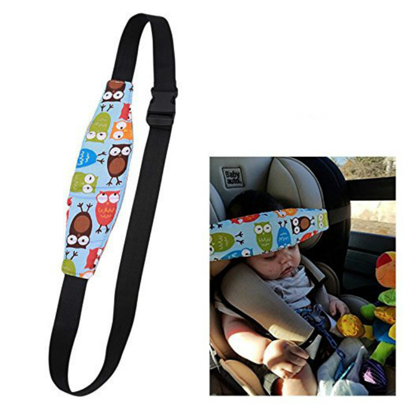 Baby Safety Car Seat Fixing Belt Kid Head Pillow Support Holder  Belt
