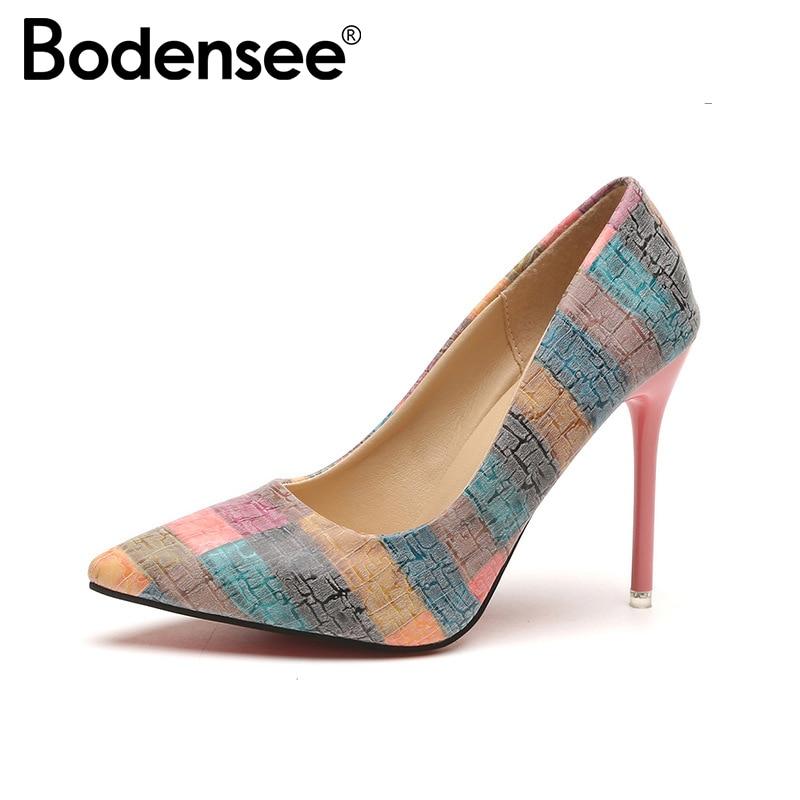 BODENSEE Plus Size 34-42 Women Pumps Shoes