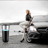 Car Air Purifier 12V Negative Ions Cleaner Ionizer Air Freshener Auto Mist Maker Pm2.5 Eliminator Cup Car Charger aroma diffuser