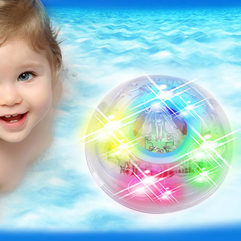Baby Child Bathroom Led Light Toy Color Changing Luminous Bath Shower Floating Colorful Toys