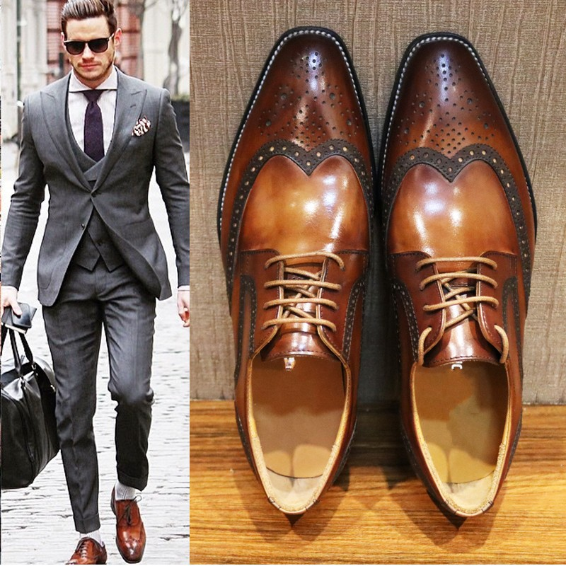 men Handmade Men Oxfords Dress Shoes
