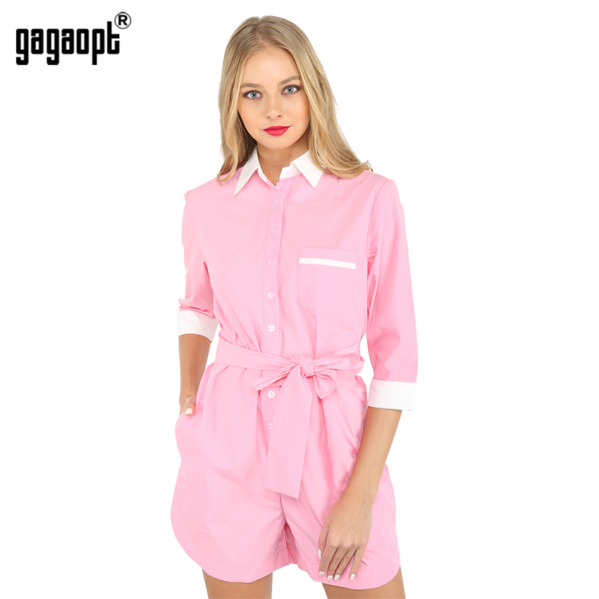 Aliexpress.com  Buy Gagaopt Women Bodysuit Rompers Sexy Long Sleeve Pink Shorts Jumpsuits ...
