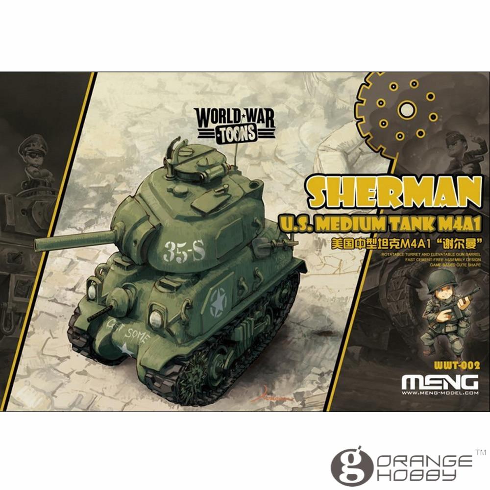 OHS Meng WWT002 Q Versin Sherman U.S. Medium Tank M4A1 Assembly Model Building Kits oh out of print italeri 1 35 m4a1 sherman 225