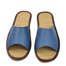 Echtes Leder Männer Schuhe Sommer Hausschuhe Hause Hochwertige Vollnarbenleder Hausschuhe Frauen Schlupf Startseite Boden Schuhe