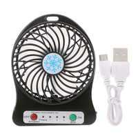 Tragbare LED Licht Mini Fan Luftkühler Mini Schreibtisch USB Fan Dritte Wind USB Fan Wiederaufladbare ABS Tragbare Büro Freien hause