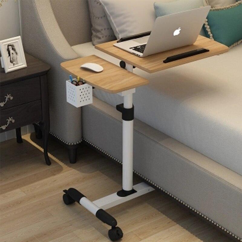 Table d'ordinateur pliable réglable ordinateur portable bureau rotation Table de lit d'ordinateur portable peut être soulevé bureau debout 64*40 CM