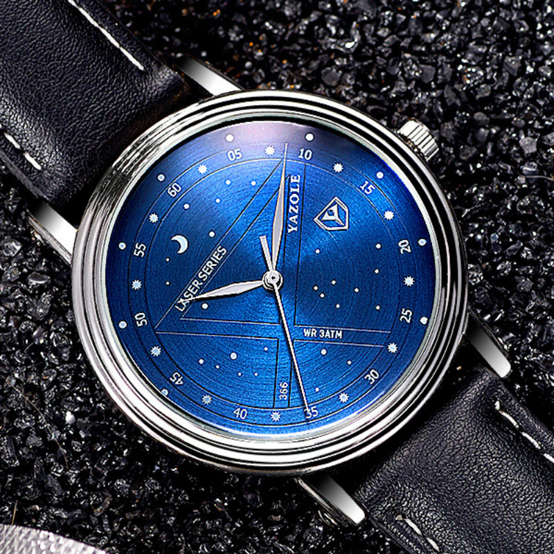 YAZOLE Night Star Women Men Watches Top Brand Luxury Famous Fashion Casual Sky Quartz Watch Men's Waterproof Watch Montre Homme classic simple star women watch men top famous luxury brand quartz watch leather student watches for loves relogio feminino