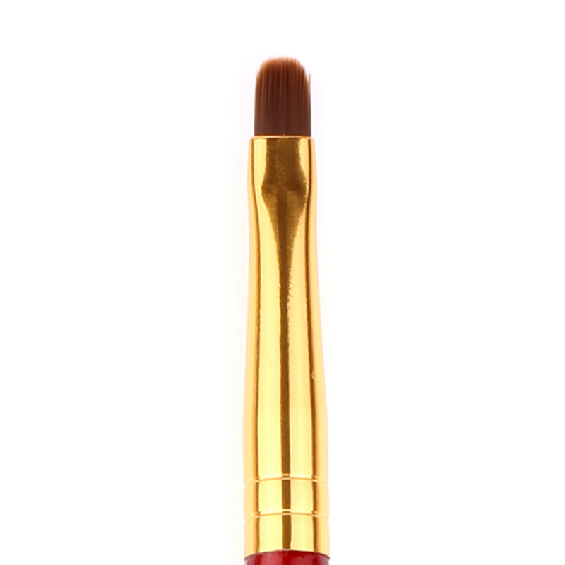 JWEIJIAO Concealer Brush High Quality Professional Single Makeup Brush Wine Red Golden Metal Pen Cosmetic Tools Blush in Eye Shadow Applicator from Beauty Health