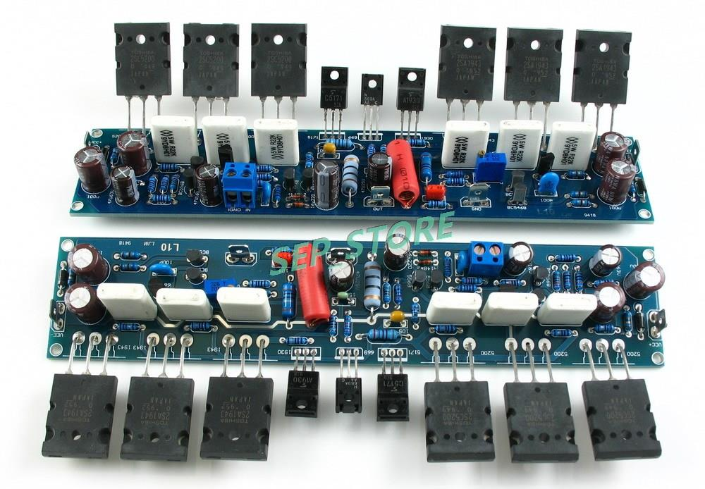 LJM Assembled Stereo L10 Duel Channel Power Amplifier Board 200W+200W 1943  5200-in Industrial Computer & Accessories from Computer & Office