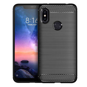 Image 2 - Soft Silicone Phone case For Xiaomi Redmi Note 6 Pro Carbon Xiomi Note6 Redmi6 Redmi6A Redmi6Pro 6A 6pro Rugged Armor TPU cover