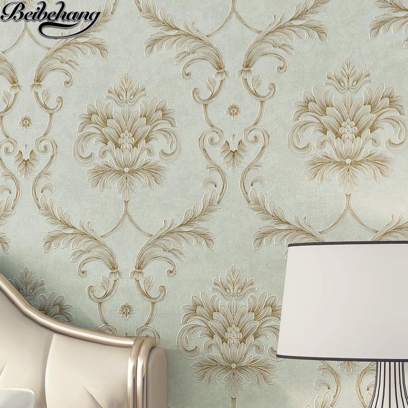 beibehang wallpaper Atmospheric jan gold body engraving non-woven wallpaper living room bedroom wall wallpaper papel de parede наушники akg y20 white