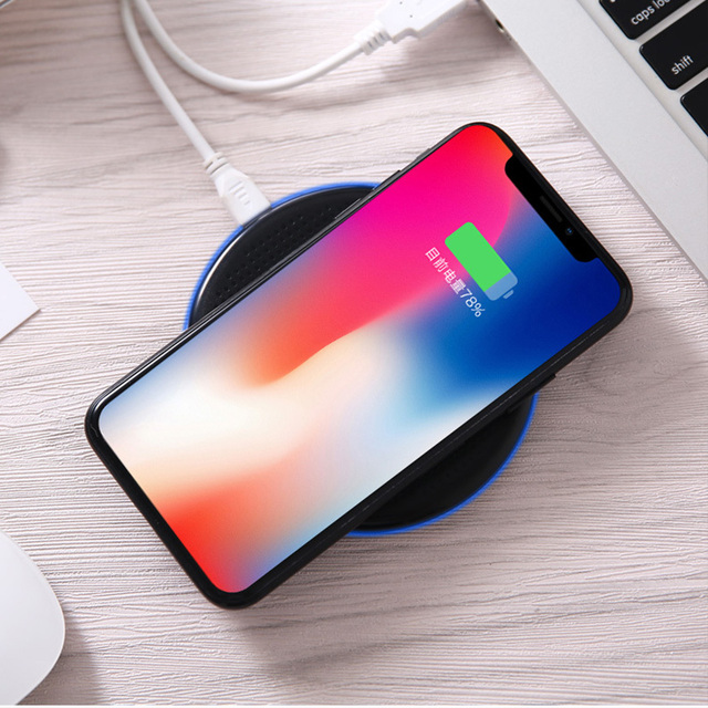 Chargeur Induction Ultra Slim Qi Wireless Charger Pad For Xiaomi Mi9 Samsung S10 iPhone For